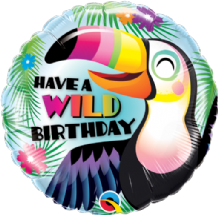 "Have a Wild Birthday Foil Balloon (18"") 1pc"